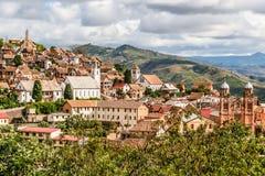 Ciudad vieja de Fianarantsoa Foto de archivo