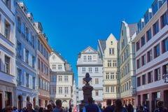 Ciudad vieja de Francfort del acontecimiento de Opeing, Alemania imagenes de archivo