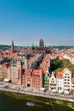 Ciudad vieja de Gdansk, Polonia fotos de archivo