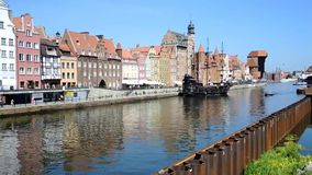 Ciudad vieja de Gdansk - Polonia almacen de video