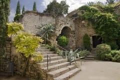 Ciudad vieja de Gerona Imagenes de archivo