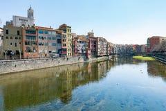 Ciudad vieja de Girona Foto de archivo libre de regalías