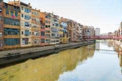 Ciudad vieja de Girona Fotos de archivo libres de regalías