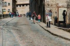 Ciudad vieja de Girona Fotografía de archivo