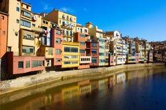 Ciudad vieja de Girona, España Fotos de archivo