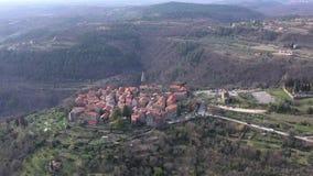 Ciudad vieja de Groznjan almacen de video