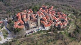 Ciudad vieja de Groznjan almacen de metraje de vídeo