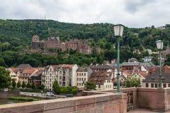 Ciudad vieja de Heidelberg en Alemania Imagen de archivo libre de regalías