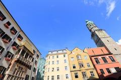 Ciudad vieja de Innsbruck Imagen de archivo libre de regalías