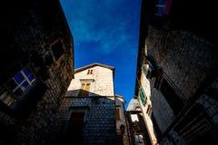 Ciudad vieja de Kotor en Montenegro Imágenes de archivo libres de regalías
