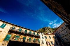 Ciudad vieja de Kotor en Montenegro Imagen de archivo libre de regalías