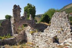 Ciudad vieja de la barra, Montenegro Imagenes de archivo