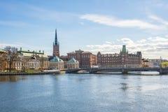 Ciudad vieja de la ciudad de Estocolmo en Suecia foto de archivo