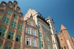 Ciudad vieja de la ciudad de Gdansk Imagen de archivo libre de regalías