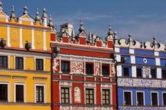 Ciudad vieja de la ciudad de Zamosc Fotografía de archivo libre de regalías