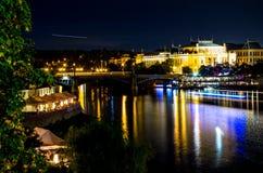 Ciudad vieja de la noche Imagenes de archivo