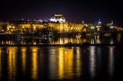 Ciudad vieja de la noche Imagen de archivo libre de regalías