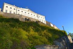 Ciudad vieja de la opinión de Tallinn Estonia Imagen de archivo