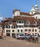 Ciudad vieja de la ciudad de Solothurn, Suiza Foto de archivo libre de regalías