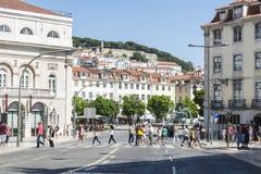 Ciudad vieja de Lisboa imagen de archivo