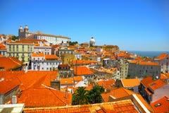 Ciudad vieja de Lisboa, Portugal Fotos de archivo libres de regalías