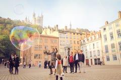 Ciudad vieja de Lyon Imagen de archivo libre de regalías