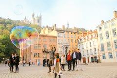 Ciudad vieja de Lyon Fotos de archivo libres de regalías
