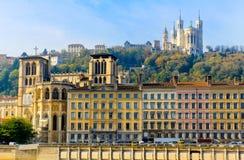 Ciudad vieja de Lyon, Lyon, Francia Fotos de archivo libres de regalías
