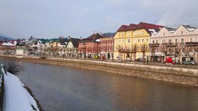 Ciudad vieja de mún Ischl, Salzkammergut, Austria almacen de metraje de vídeo