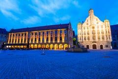 Ciudad vieja de Memmingen, Alemania Imágenes de archivo libres de regalías