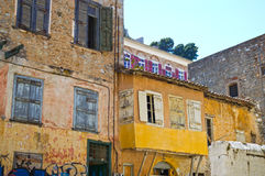 Ciudad vieja de Nafplion Imagen de archivo libre de regalías
