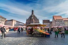 Ciudad vieja de Nuremberg, Alemania Foto de archivo libre de regalías