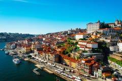 Ciudad vieja de Oporto, Portugal en el río del Duero Fotos de archivo libres de regalías