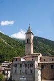 Ciudad vieja de Pacentro en la región de las montañas de Abruzos Fotografía de archivo libre de regalías
