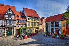 Ciudad vieja de Quedlinburg Fotos de archivo libres de regalías