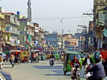 ciudad vieja de Rawalpindi, Paquistán fotografía de archivo libre de regalías
