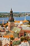 Ciudad vieja de Riga Foto de archivo libre de regalías
