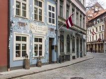 Ciudad vieja de Riga en la primavera Fotos de archivo libres de regalías