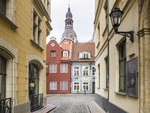 Ciudad vieja de Riga en la primavera Imagen de archivo