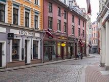 Ciudad vieja de Riga en la primavera Fotografía de archivo
