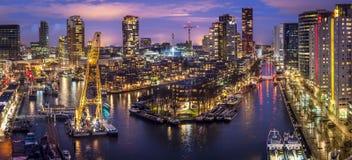 Ciudad vieja de Rotterdam del puerto imagenes de archivo