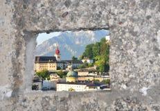 Ciudad vieja de Salzburg. Imagen de archivo libre de regalías
