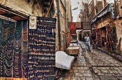 Ciudad vieja de Sana'a en HDR Foto de archivo libre de regalías