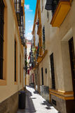 Ciudad vieja de Sevilla cerca de st España de Vida del Agua del calle Imagen de archivo