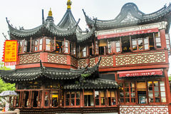 Ciudad vieja de Shangai, jardines de Yuyuan fotografía de archivo