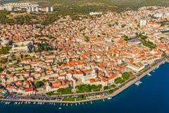 Ciudad vieja de Sibenik Foto de archivo libre de regalías