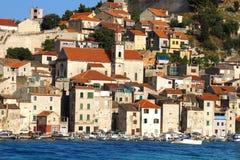 Ciudad vieja de Sibenik, Croatia Imagen de archivo