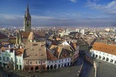 Ciudad vieja de Sibiu Imagen de archivo libre de regalías