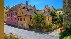 Ciudad vieja de Sighisoara, Transilvania foto de archivo libre de regalías