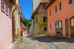 Ciudad vieja de Sighisoara, Transilvania fotografía de archivo libre de regalías